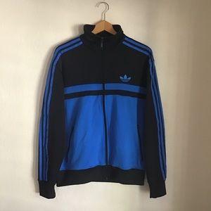 Adidas Mens Blue Black Trefoil Zip Up Jacket, M